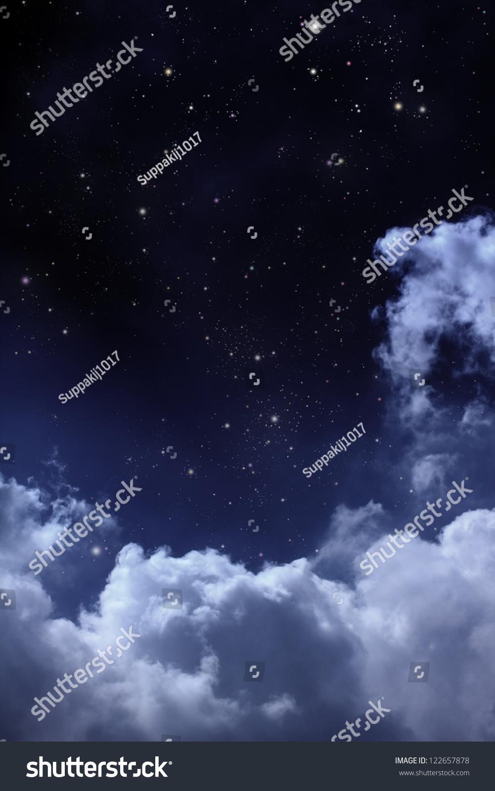 Cloudy Night Sky Stars Cloudy Night Sky Stars...
