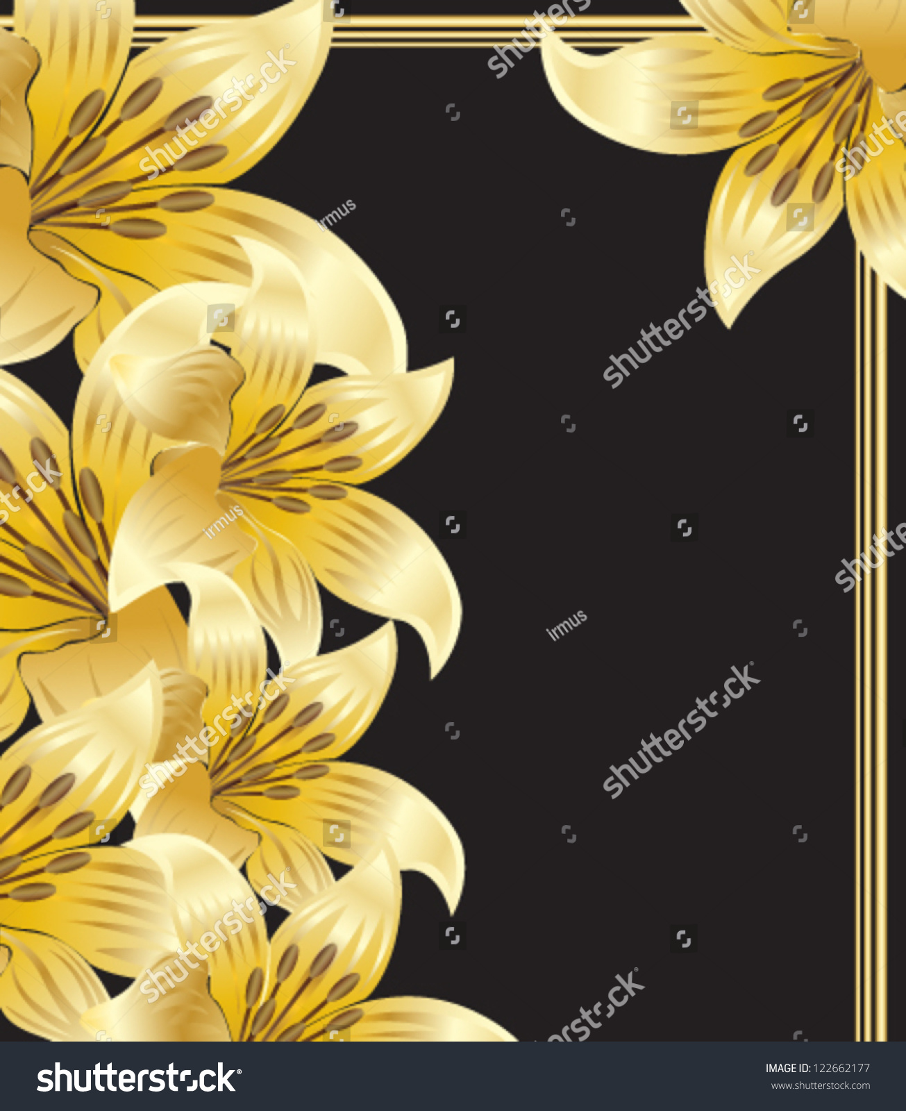 Vector Illustration French Lily Stock Vector Royalty Free