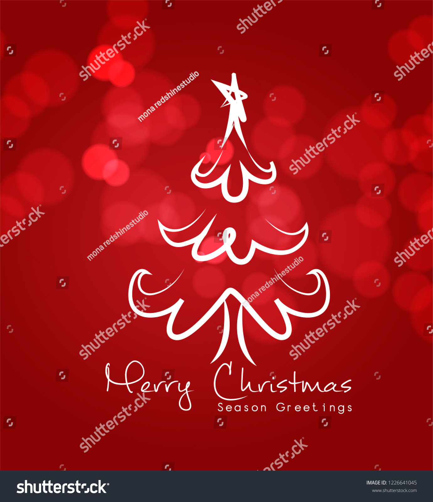 Merry Christmas Design Merry Christmas Calligraphy Stock Vector