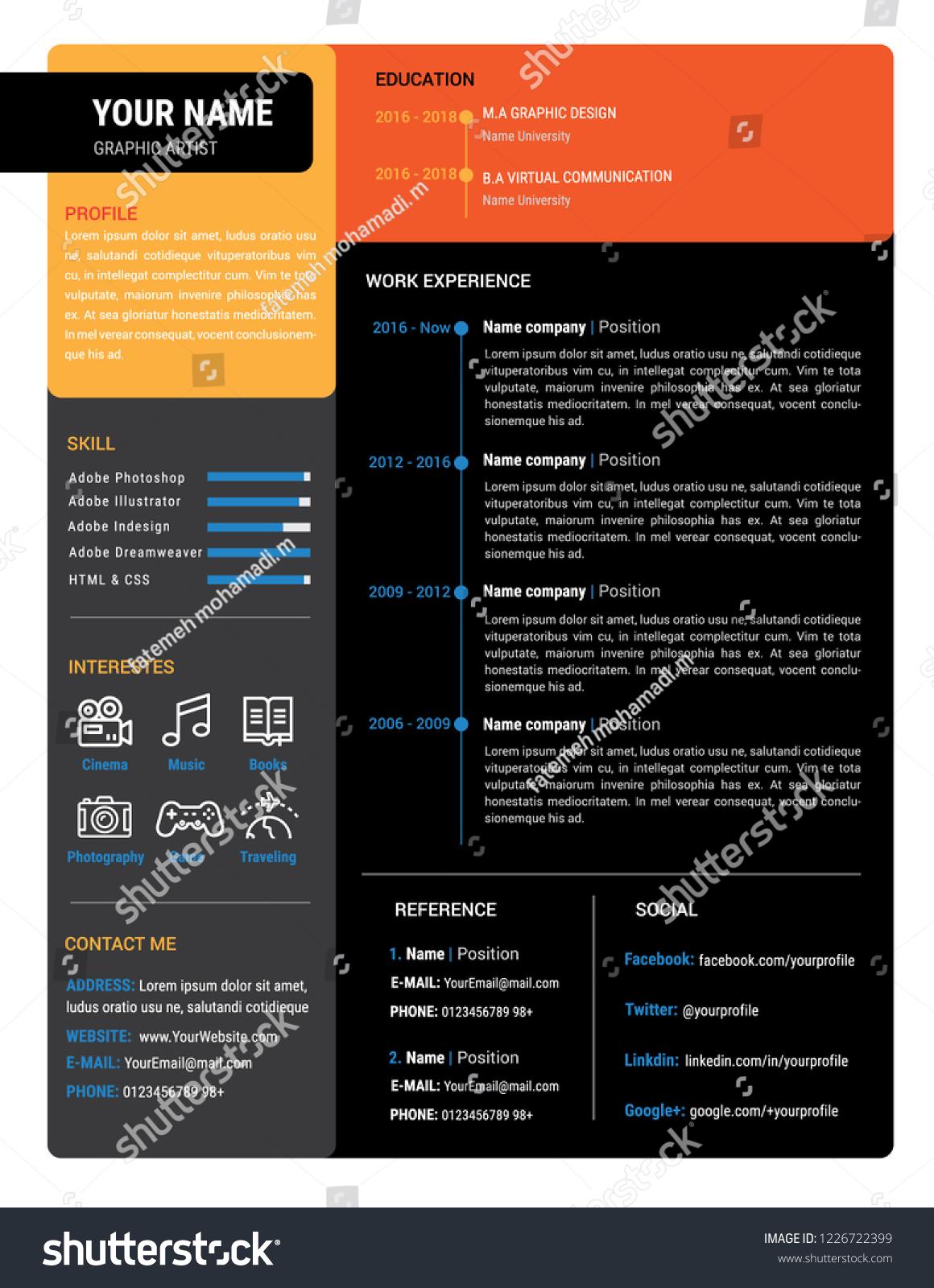 adobe stock resume templates