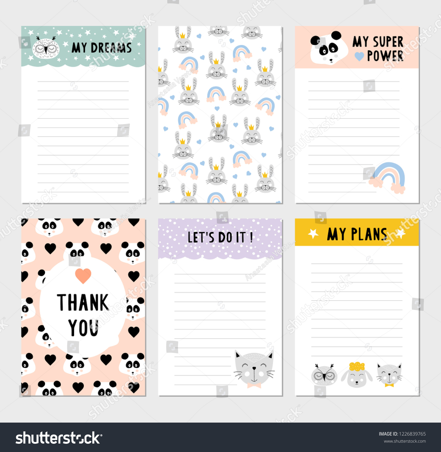 cute weekly planner funny do list stock vector (royalty free