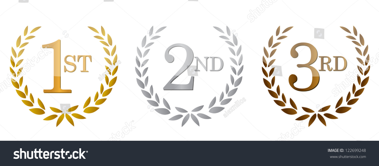 Http Www Shutterstock Com Pic 122699248 Stock Photo St Nd Rd Awards Golden Emblems Illustration Design Html