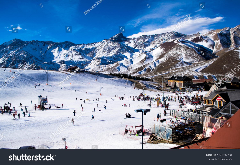 las ski resort argentina stock photo (edit now) 1226994268