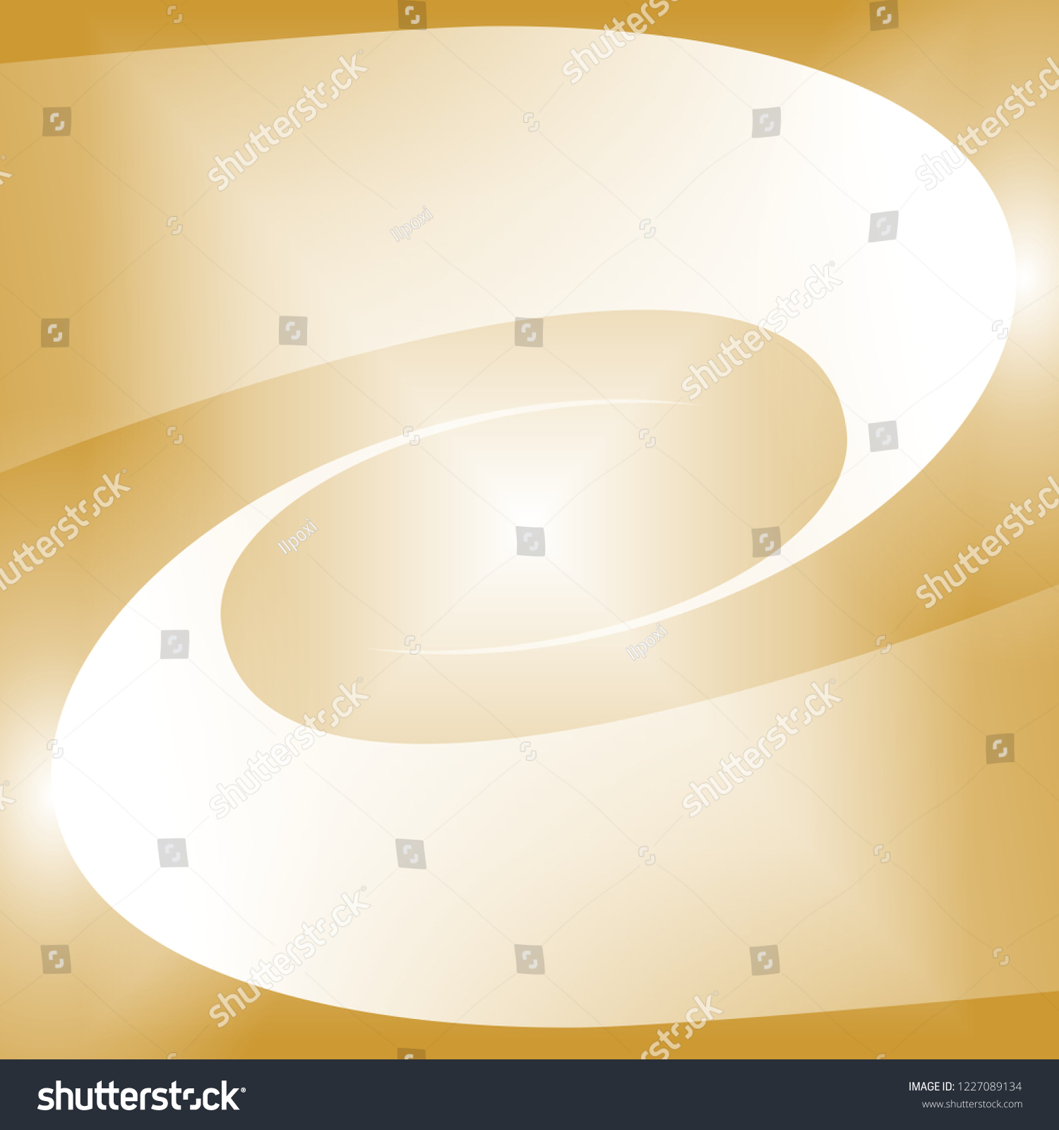 Instant Beautiful Golden Square Empty Campaign Stock Illustration