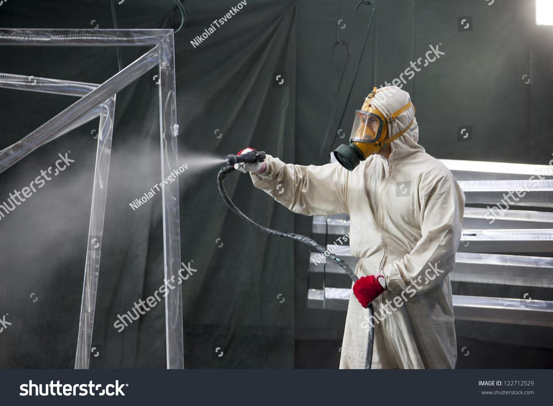 Painter Painting Metal Designs Airbrush Stock Photo Edit Now 122712529