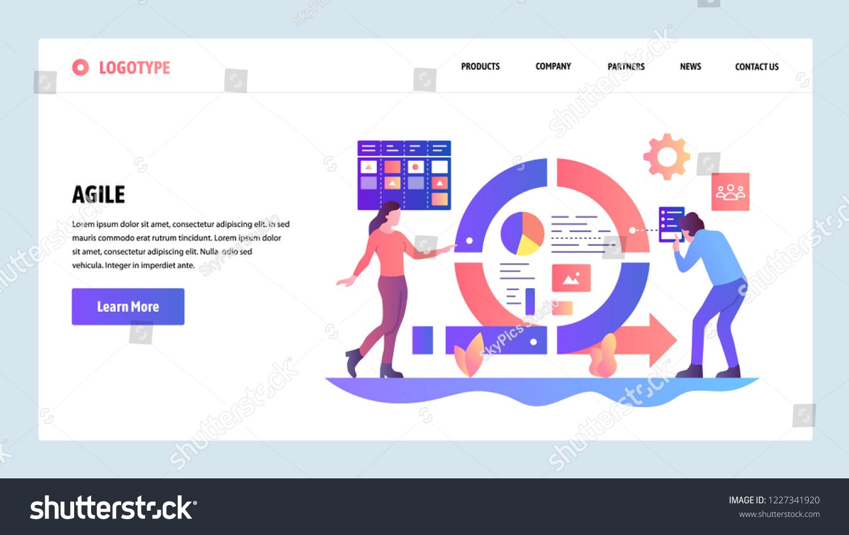 Vector Web Site Design Template Agile Stock Vector Royalty Free ...
