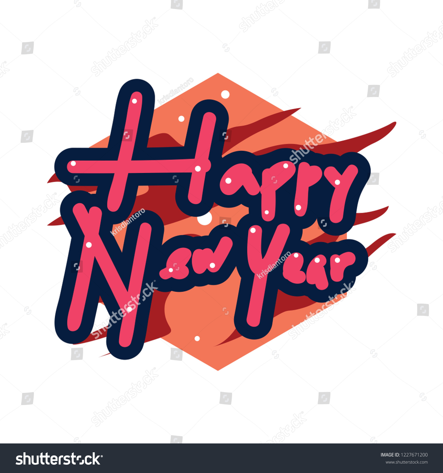 Happy new year stickers a sticker with a design that says happy new year new year stickers with trumpet ornament design new year stickers with colorful