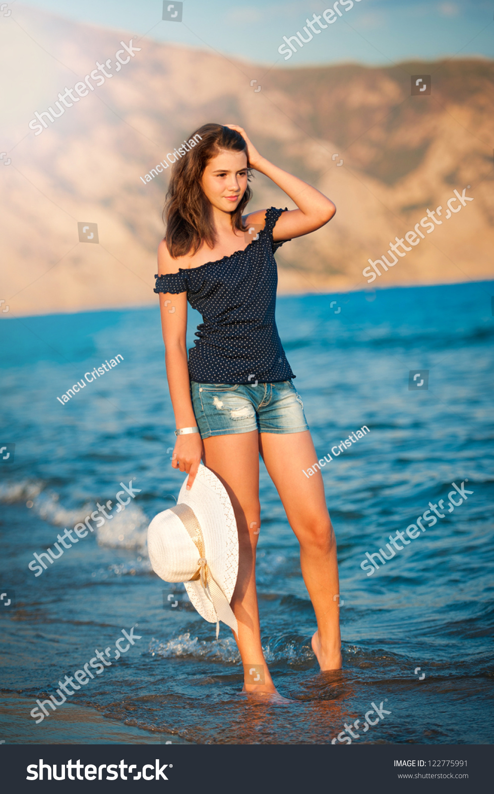 Beautiful teen girls at the beach that can