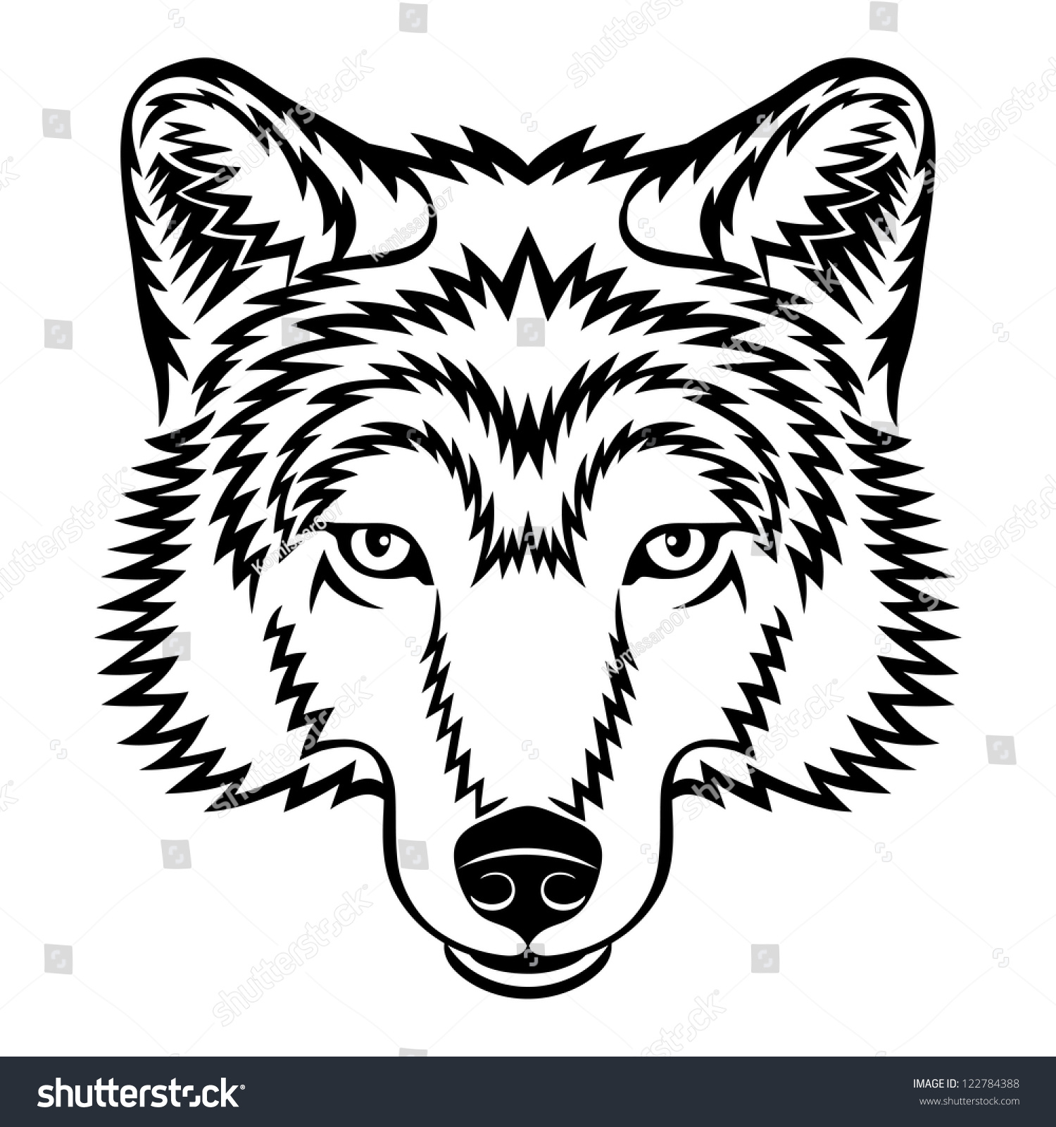 Gallery For gt Evil Wolf Face Drawing