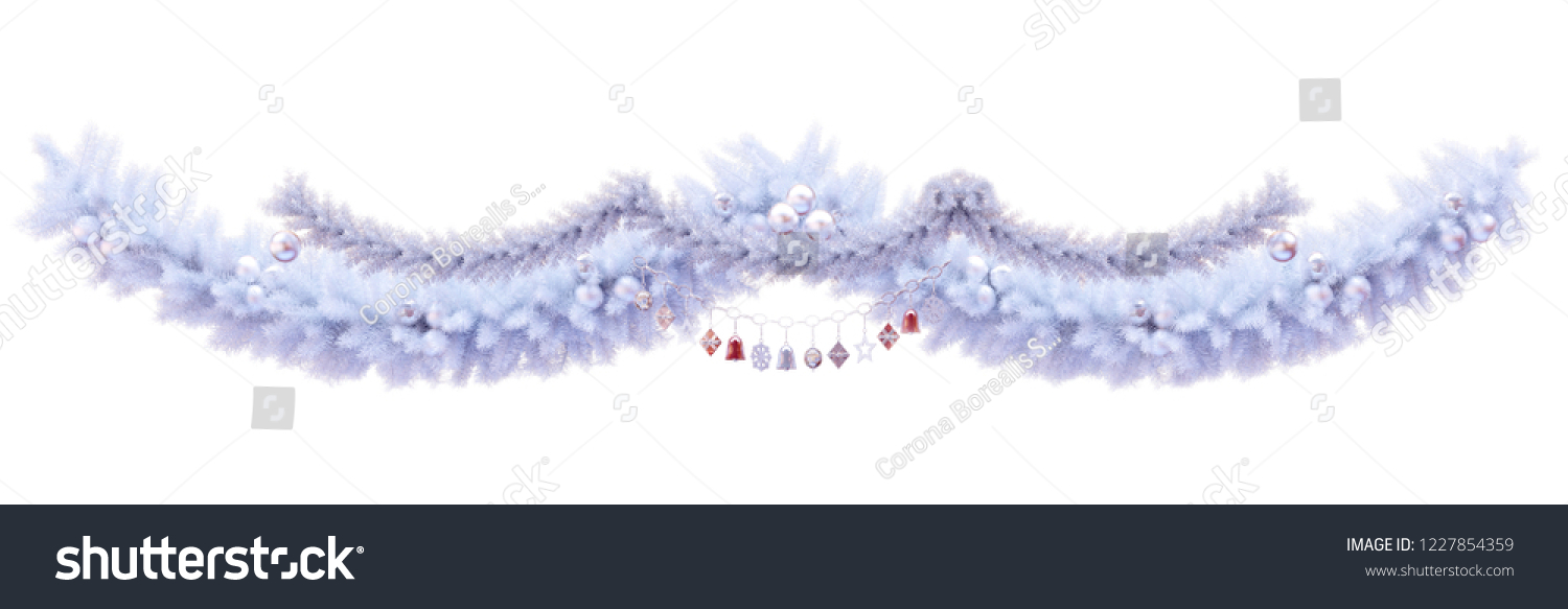 merry christmas and new year 2019 greeting card border decoration design element elegant christmas garland
