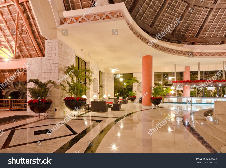 Fragment Lobby Five Stars Luxury Caribbean Stock Photo