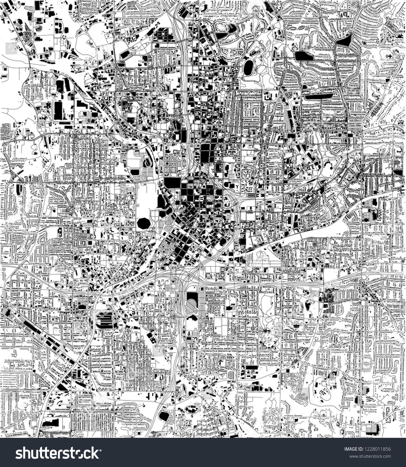 Satellite Map Of Georgia Usa.Satellite Map Atlanta Georgia Usa City Stock Vector Royalty Free