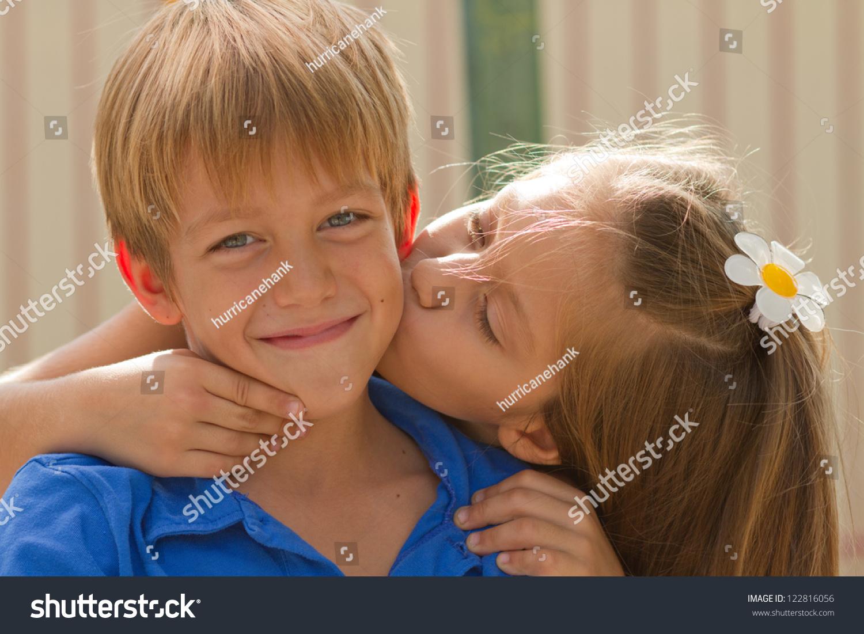 Cute women kissing