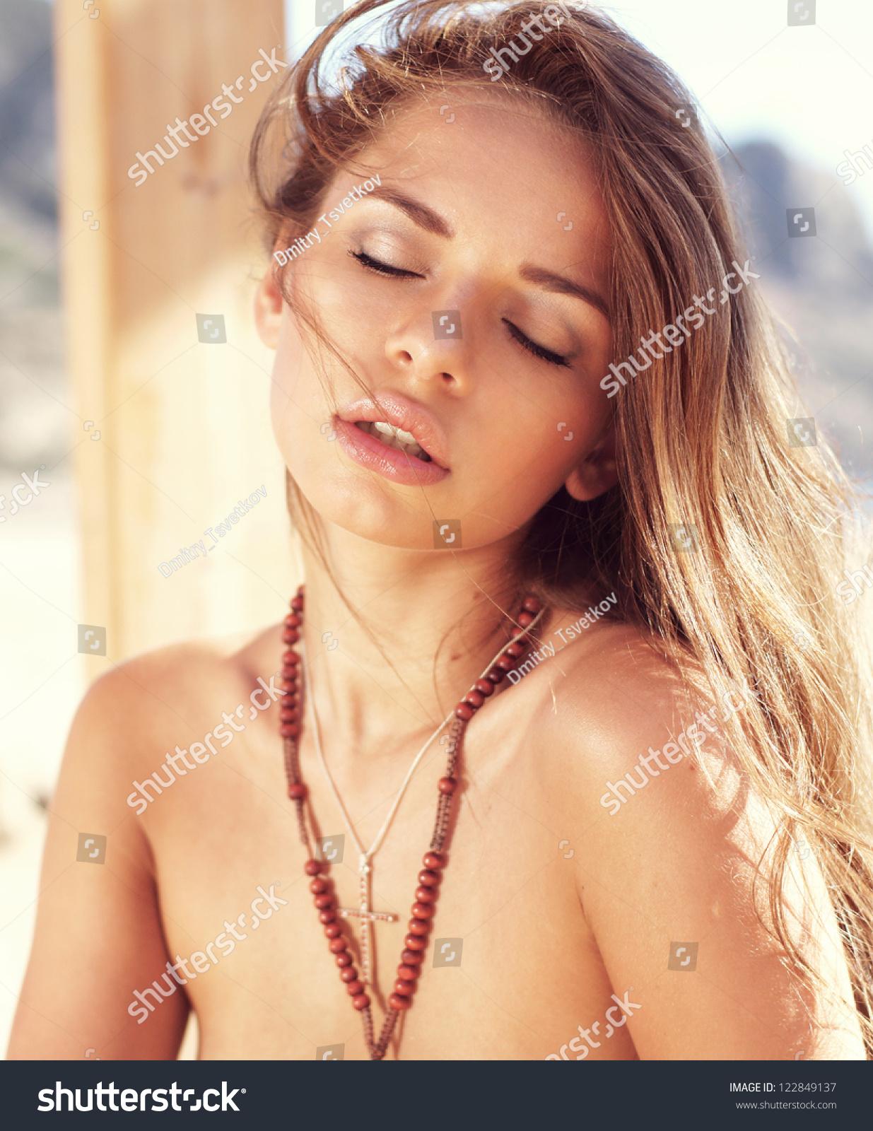 Women body builder cum shot