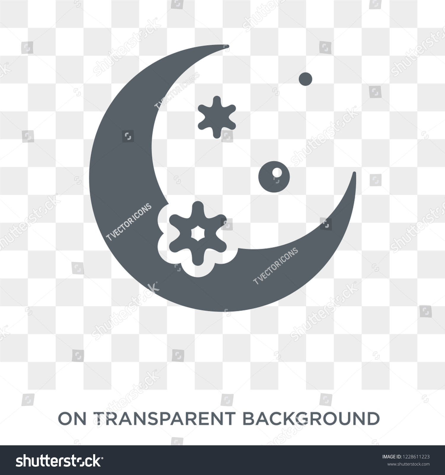 crescent moon icon crescent moon design stock vector royalty free 1228611223 shutterstock