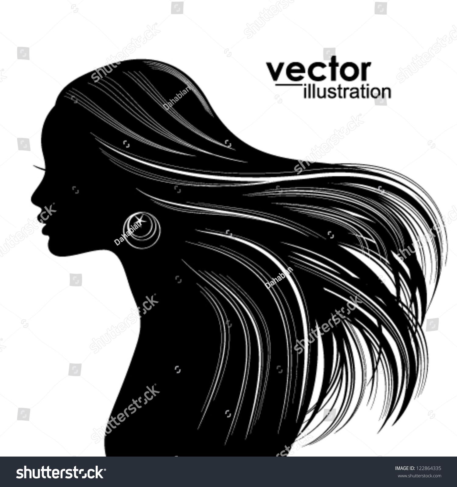 Woman Hair Style Silho...