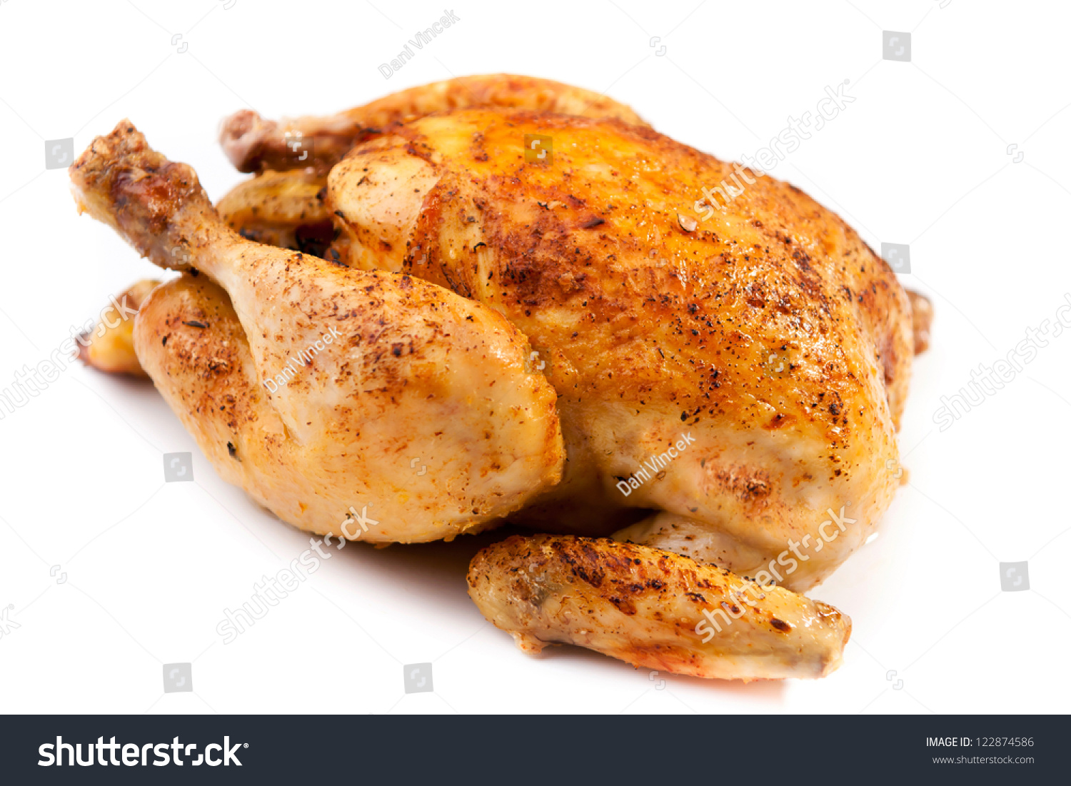 Roast Chicken Stock Photo 122874586 : Shutterstock