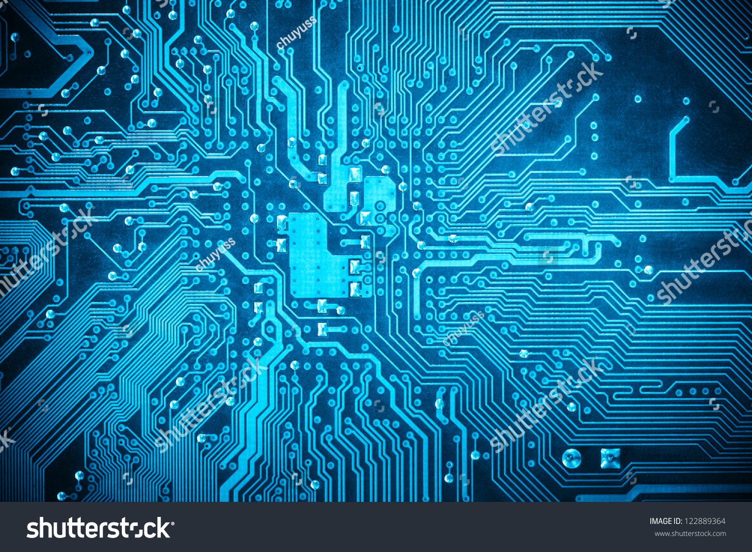 Blue Circuit Board Background Computer Motherboard Stock Photo Edit Circuitboard Of