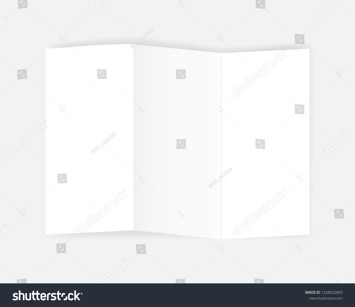 A 4 Z Fold Blank White Booklet Stock Vector (Royalty Free