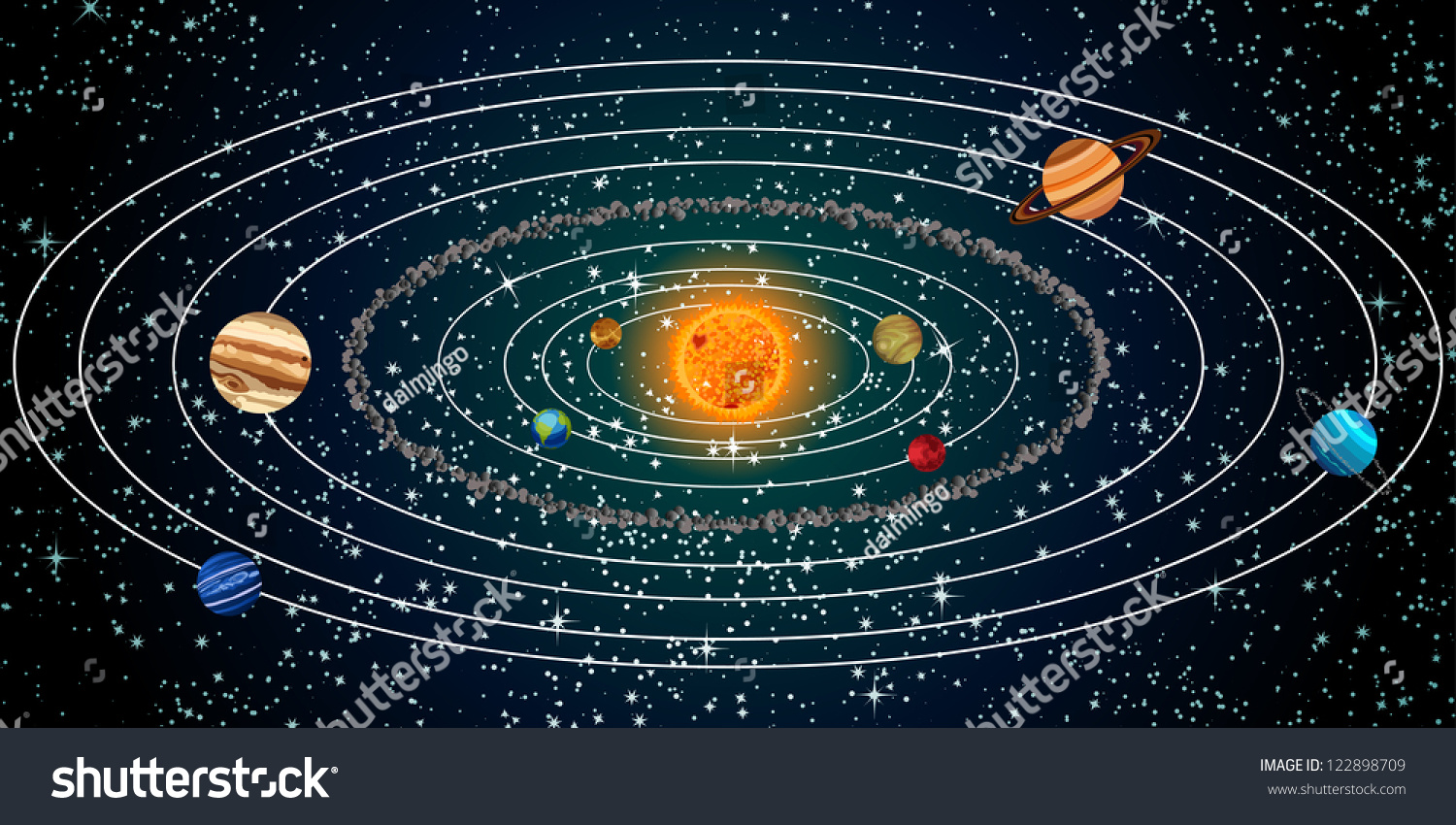 Planet ring vector