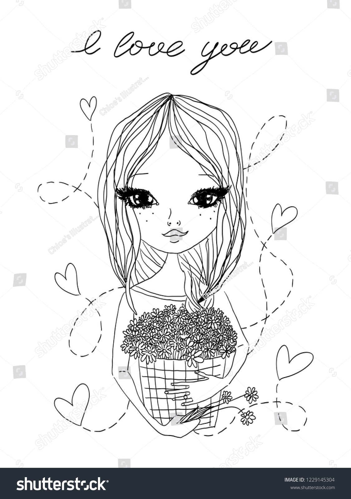 stock-vector-black-and-white-vector-cute