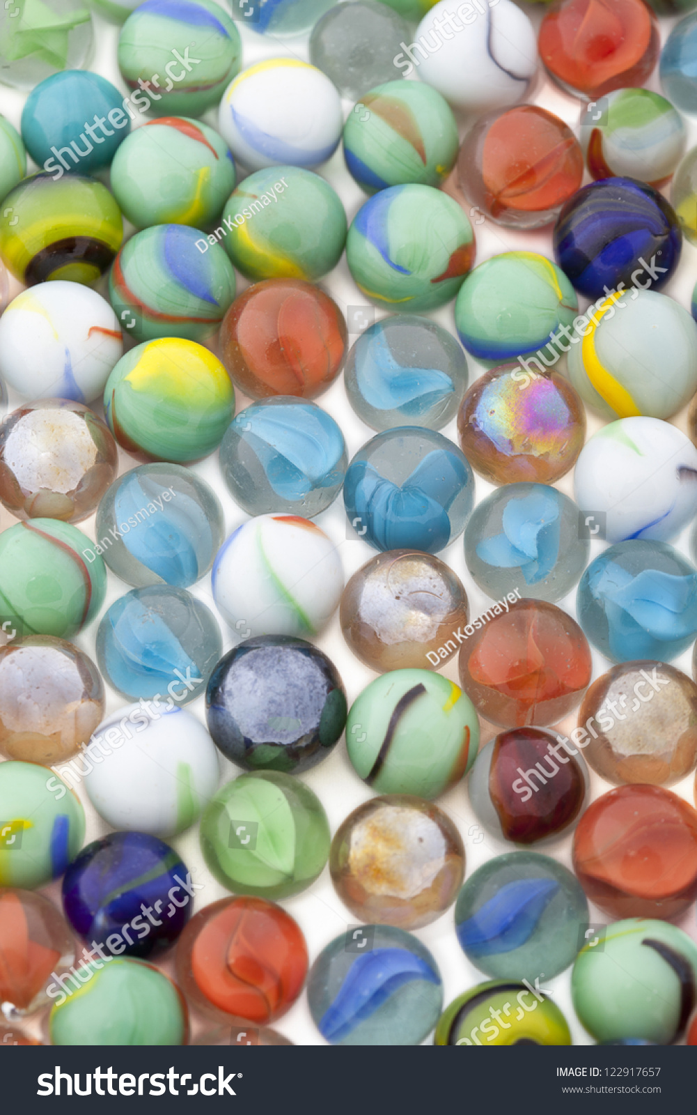 Colorful toy marbles collection in a background image #122917657