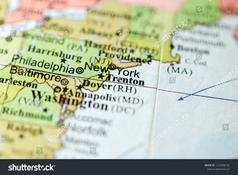 Trenton Usa On Geography Map Stock Photo Edit Now 1229306731