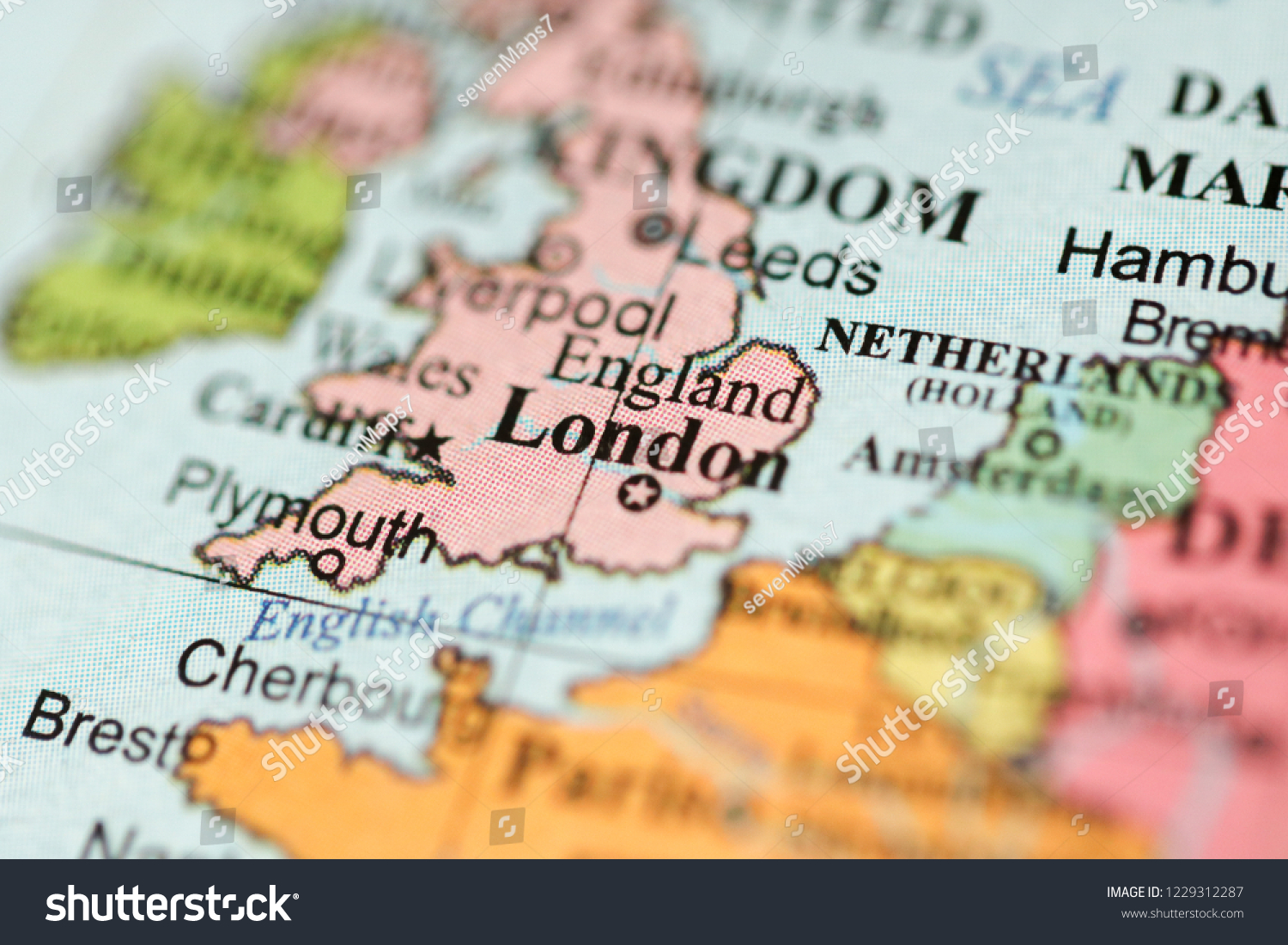 Geography Map Of England.London Europe On Geography Map Stock Photo Edit Now 1229312287