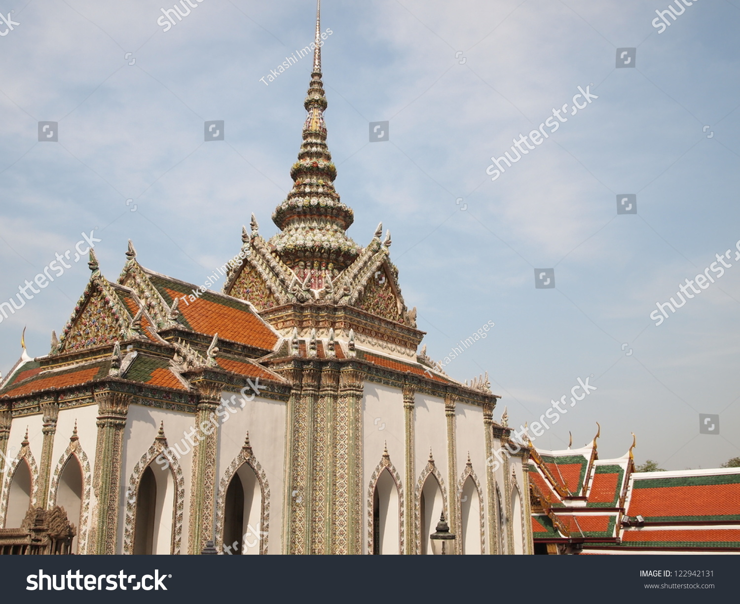 Phra Wiharn Yod At Temple Of The Emerald Buddha In Bangkok ...