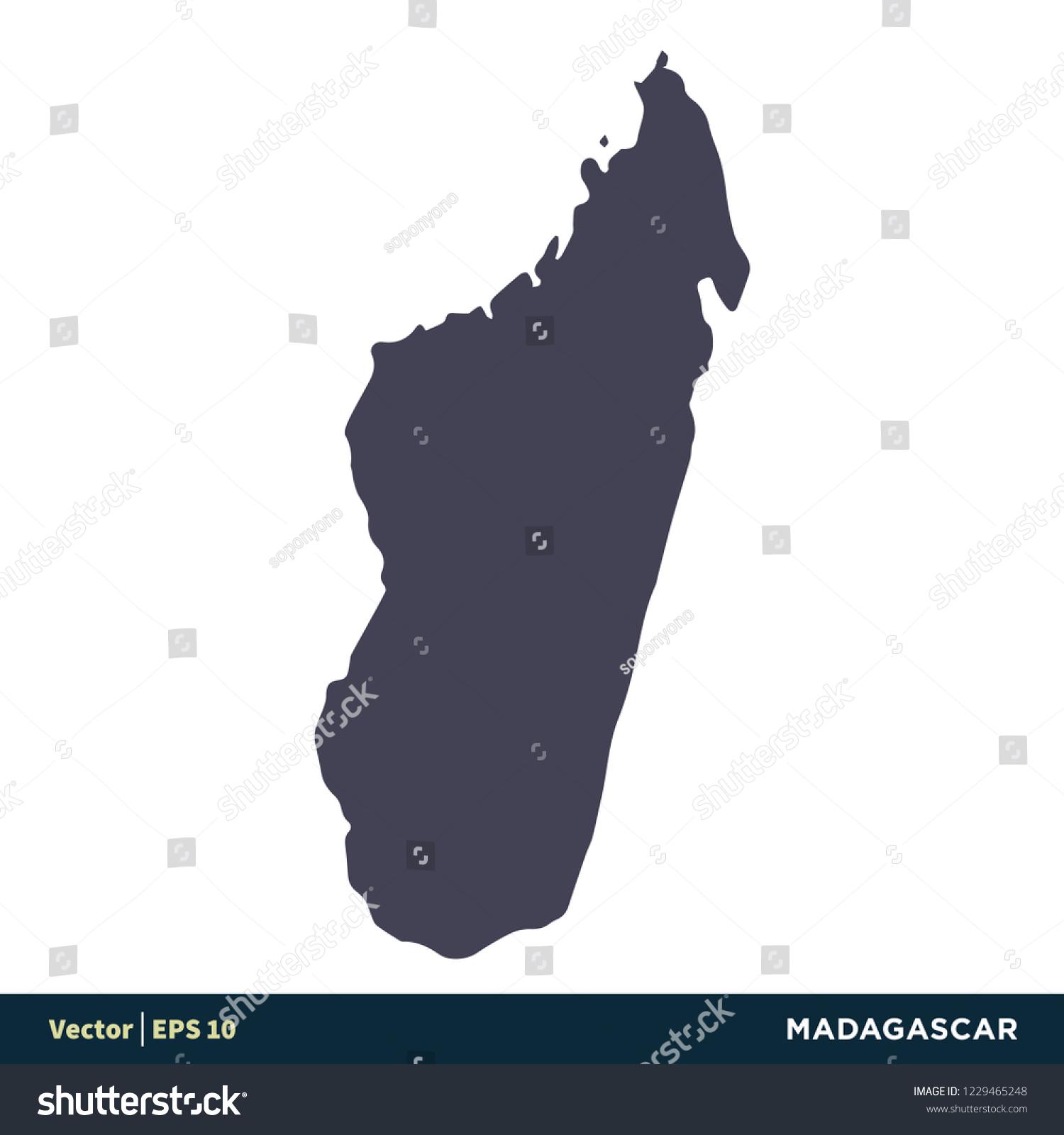 Madagascar Africa Countries Map Icon Vector Stock Vector Royalty