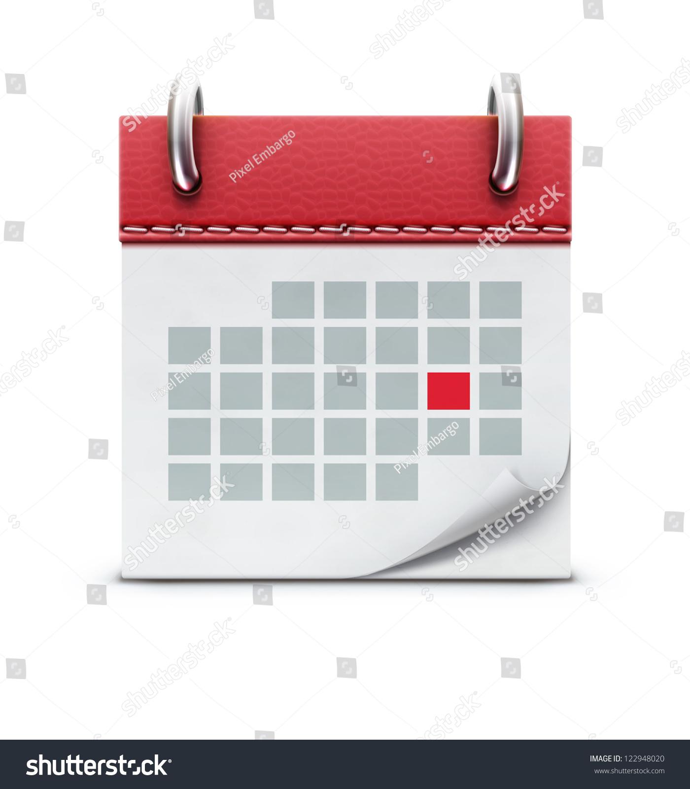 Calendar Method With Illustration : Vector illustration detailed beautiful calendar icon stock