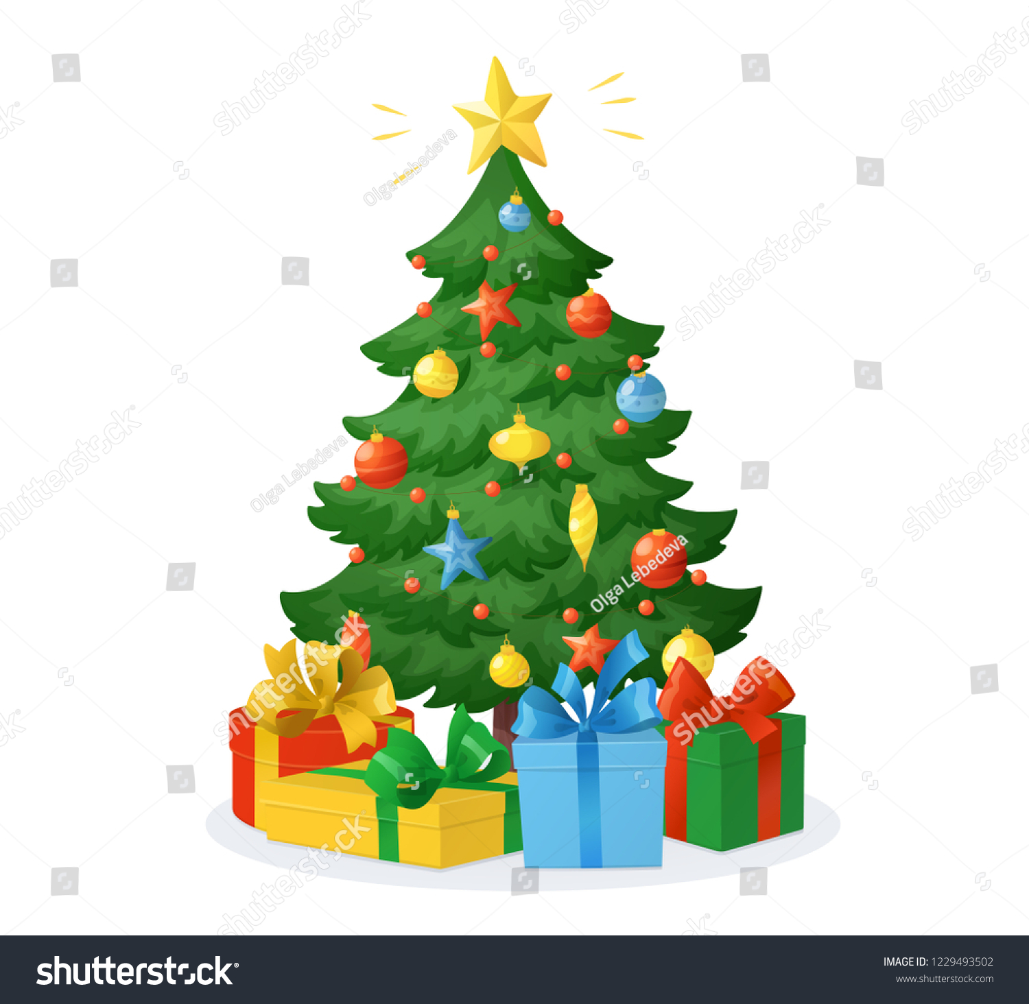 Cartoon Christmas Tree Presents Isolated On Stock Vector Royalty Free 1229493502 Watch online and download dora the explorer cartoon in high quality. shutterstock