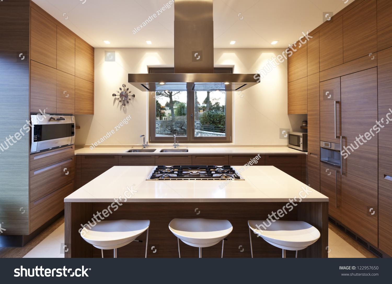 Beautiful apartment interior kitchen stock photo for Beautiful flats interior