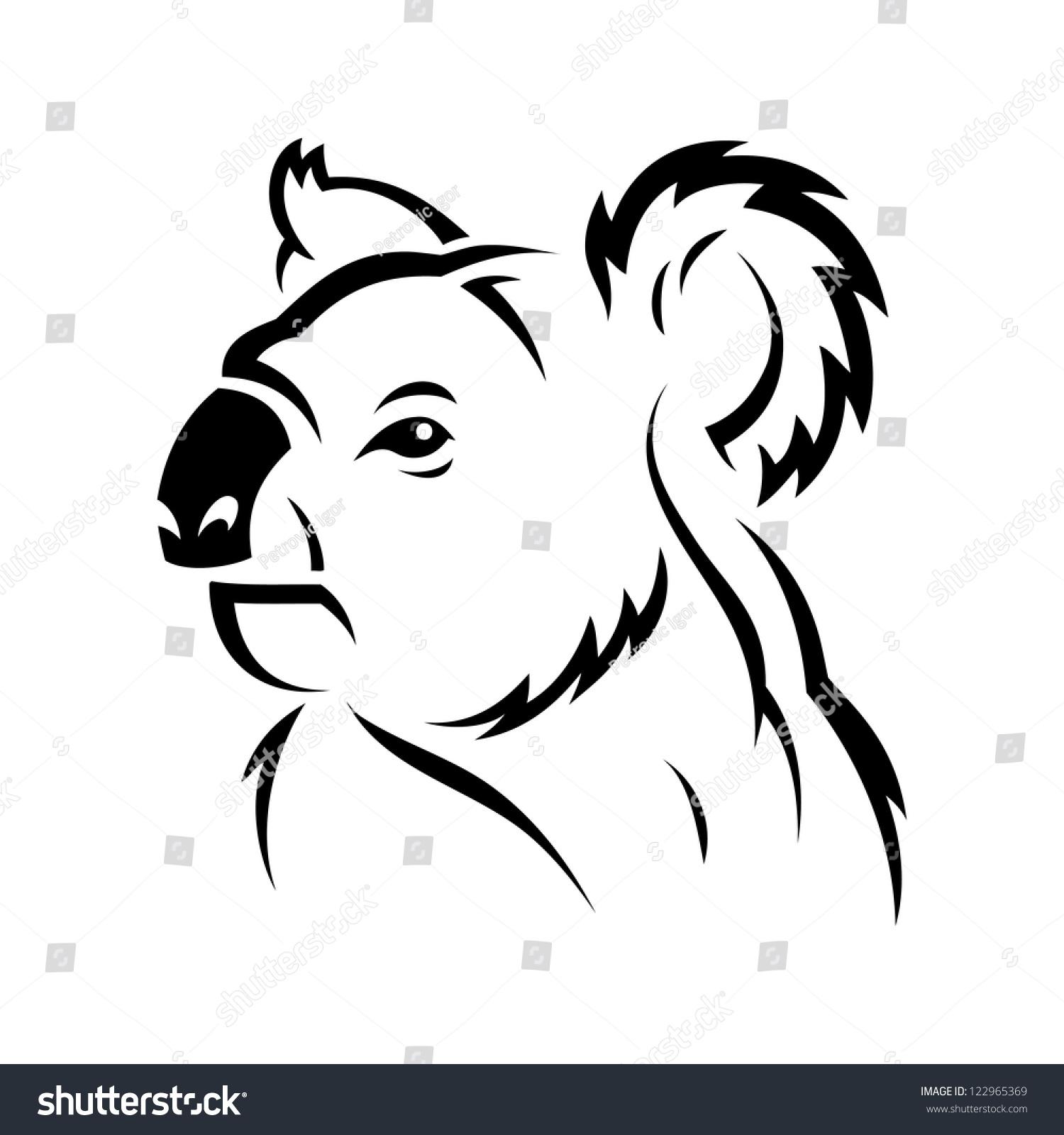 Koala Art And Design : Koala bear vector illustration stock