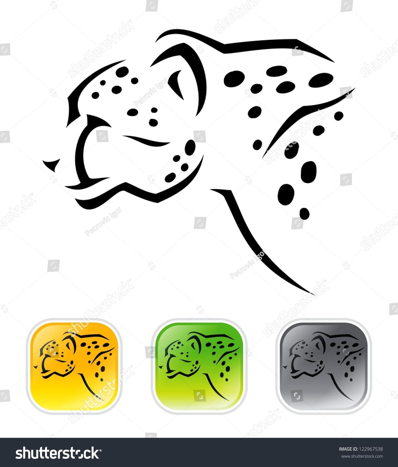 Chester Cheetah Illustrations On Behance: Cheetah Vector Illustration Stock Vector 122967538