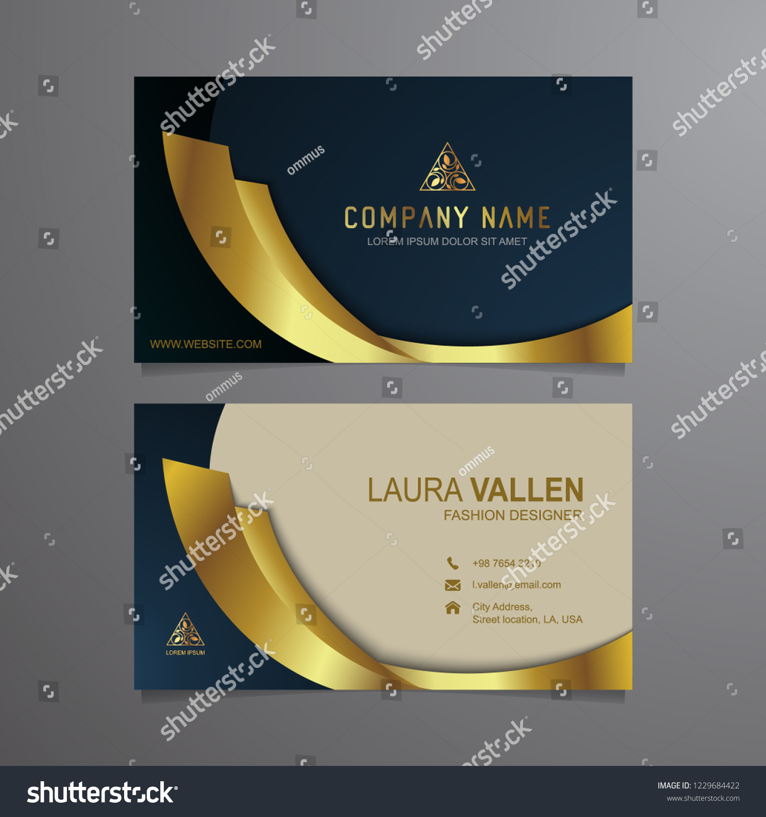 Business Card Luxury Modern Black White Stock Vector Royalty Free 1229684422