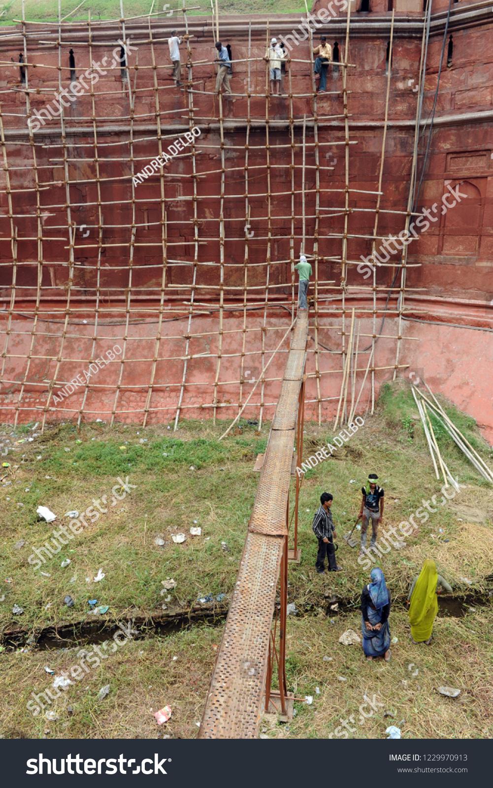 India November 2018 Scaffolding Construction India Stock Photo (Edit