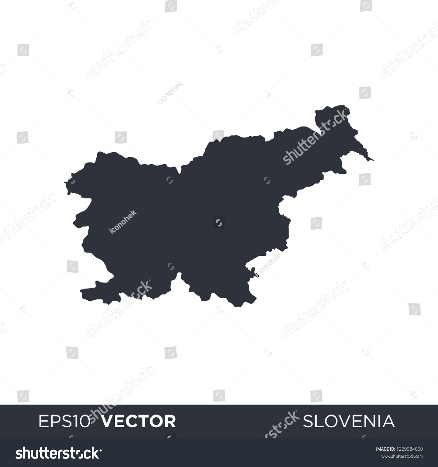 Picture of: Vector De Stock Libre De Regalias Sobre Slovenia Europe Country Map Vector Logo1229984050
