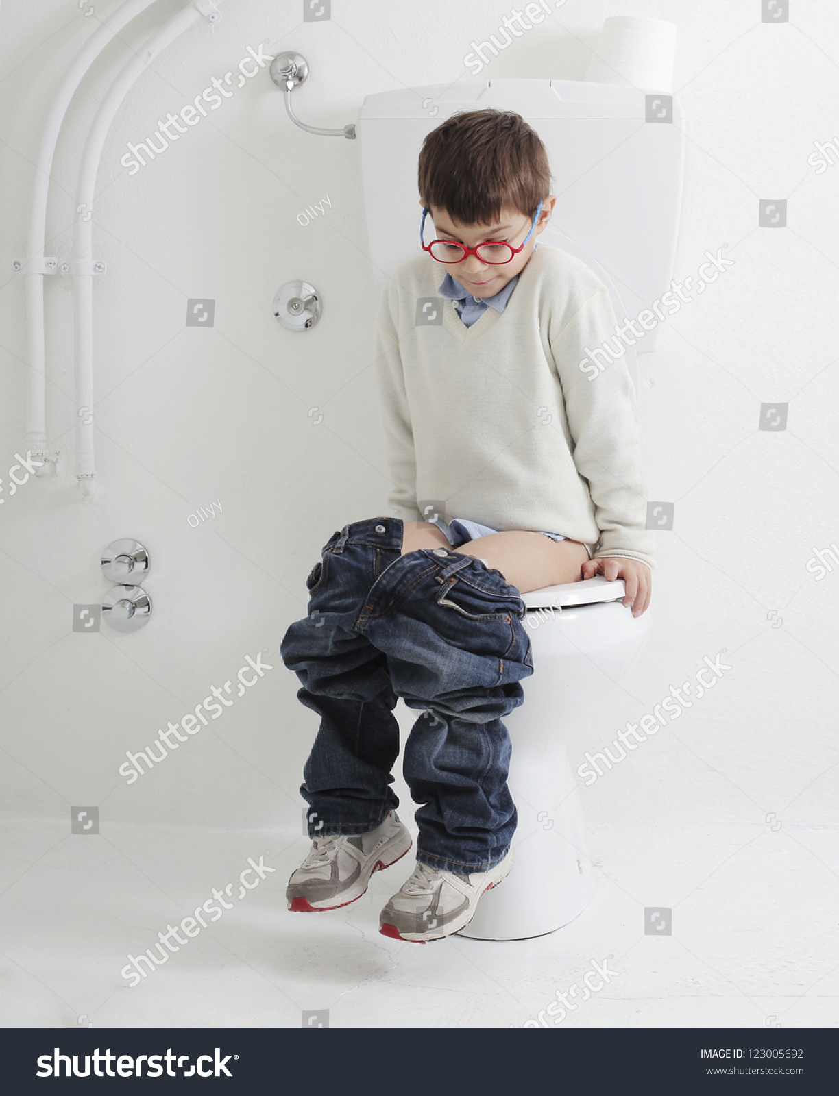 Little Boy Pooping Stock Video Footage - 4K and HD Video