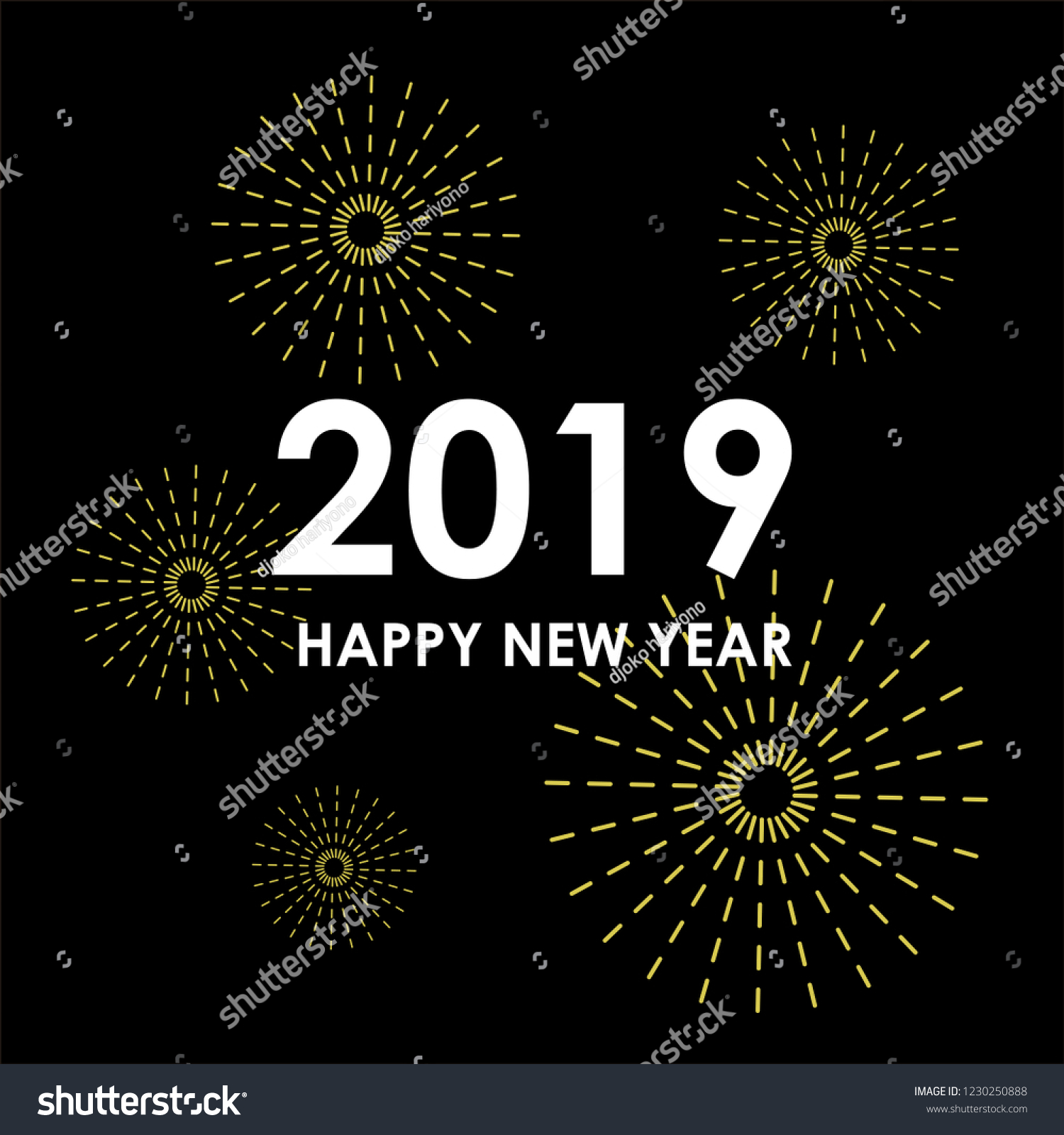 happy new year 2019 colorful wallpaper background party vector