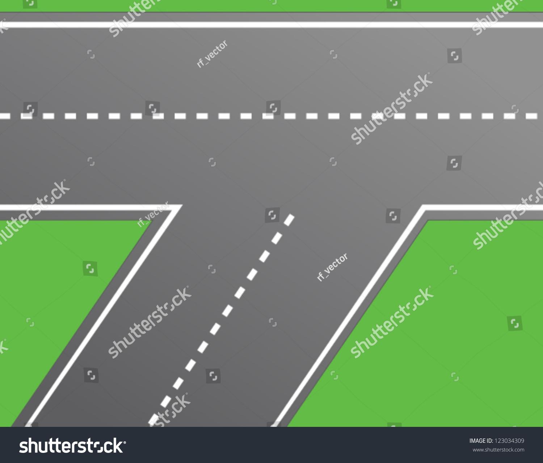 Road Intersection Road Vector Stock Vector 123034309 - Shutterstock