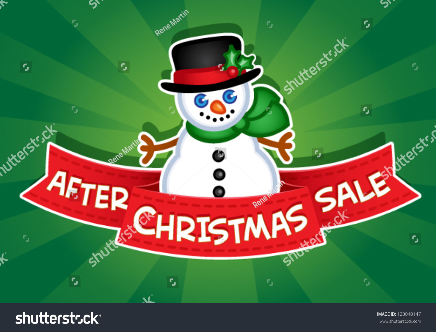After christmas sale banner snowman stock vector 123040147 for After christmas christmas decoration sales