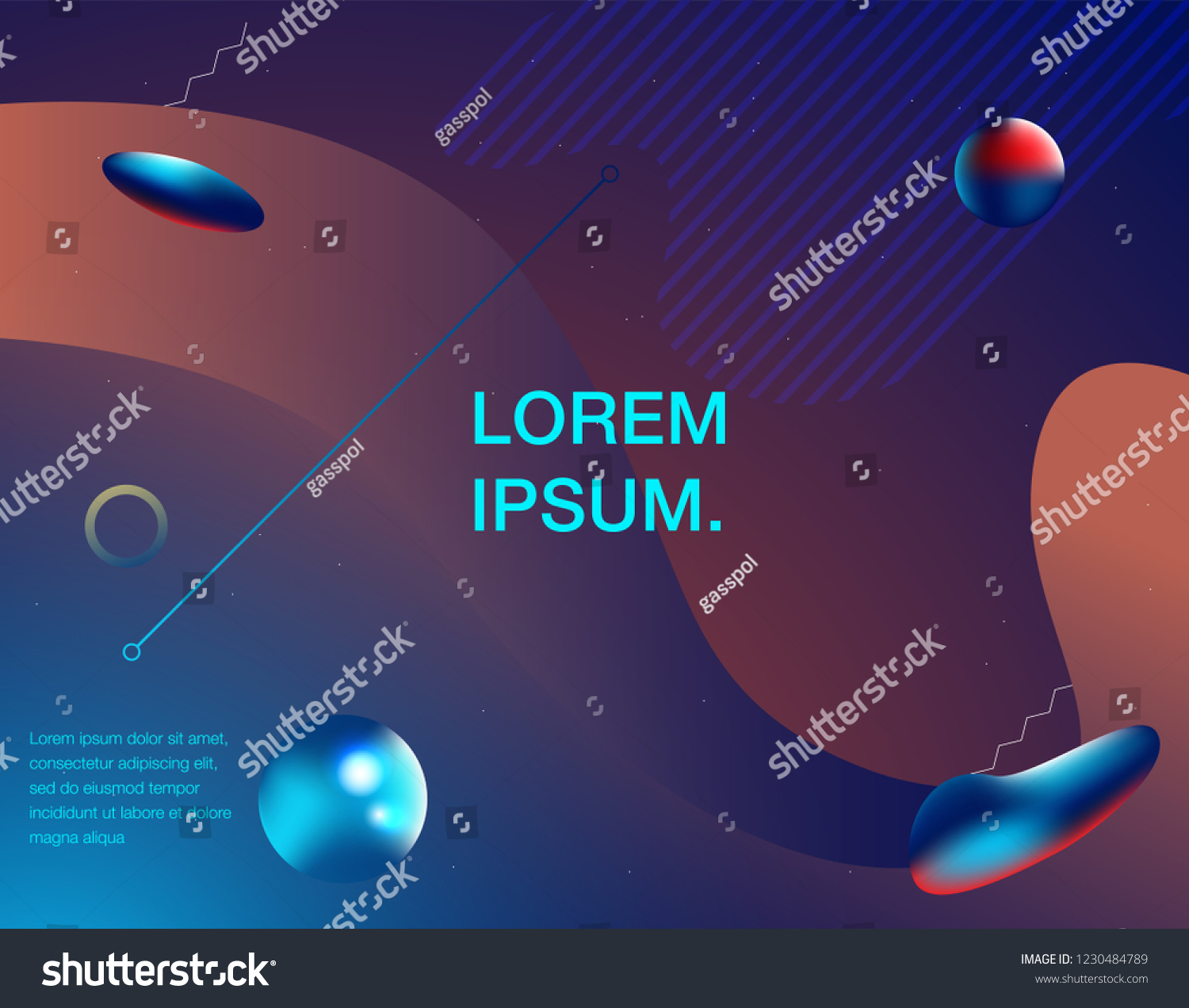 Colorful Geometric Background Liquid Flow Fluid Stock Vector