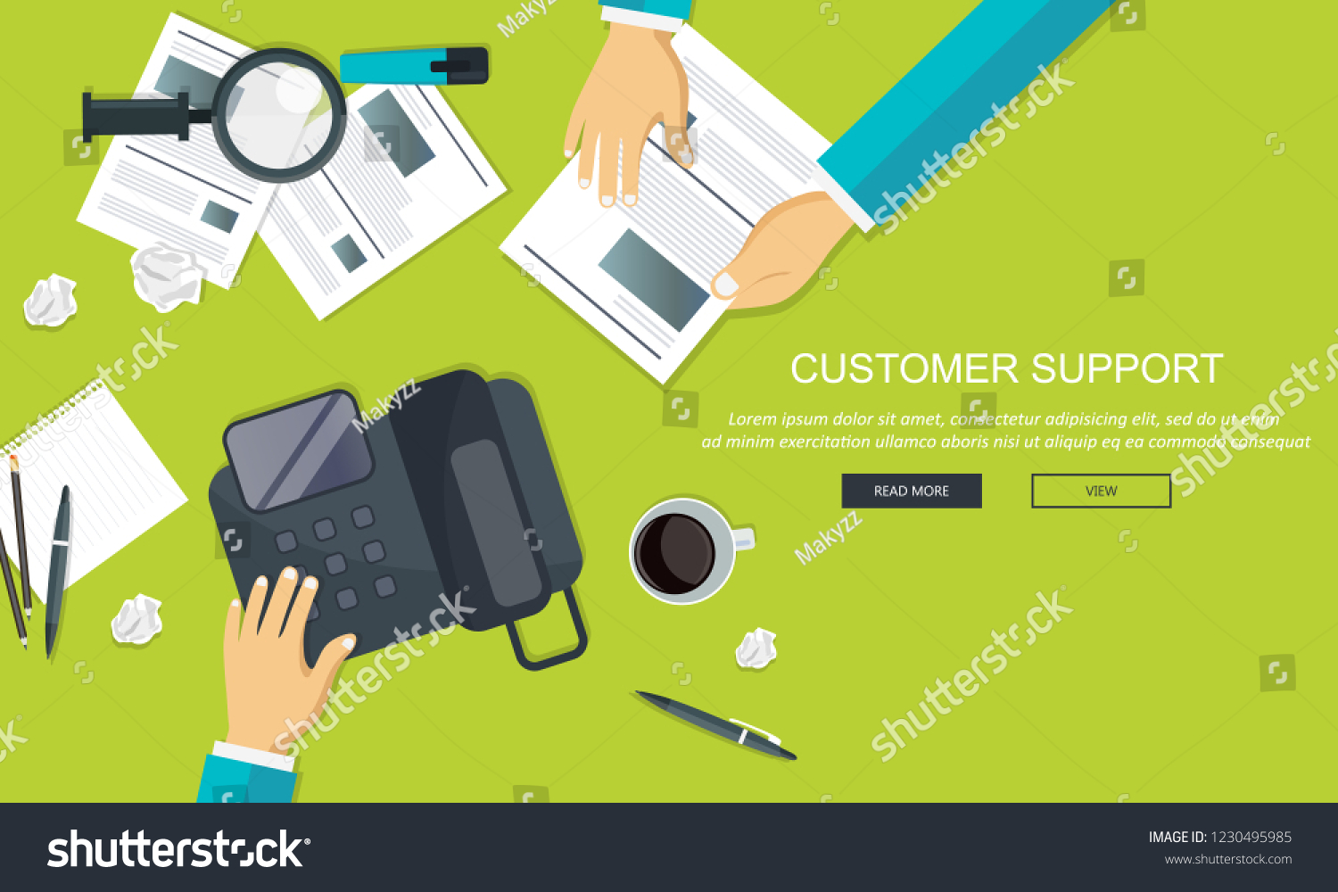 Business Customer Care Service Concept Icons Stock Vector