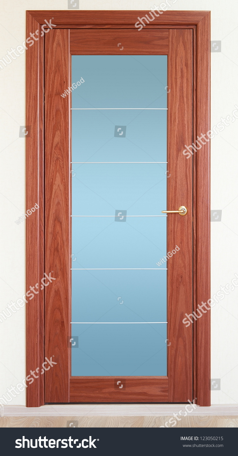 how to build a door with glass insert