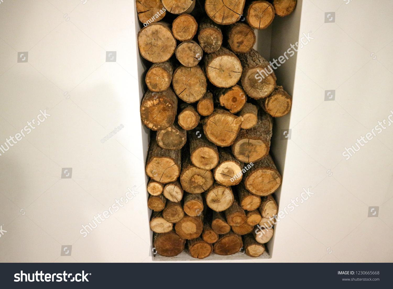 Stack Wood Next Fireplacefirewood Stock Photo Edit Now 1230665668