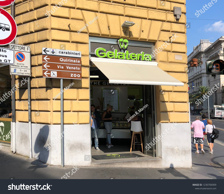 ROME ITALYSEPTEMBER 30 2018 Local Gelato Stock Photo (Edit Now ...