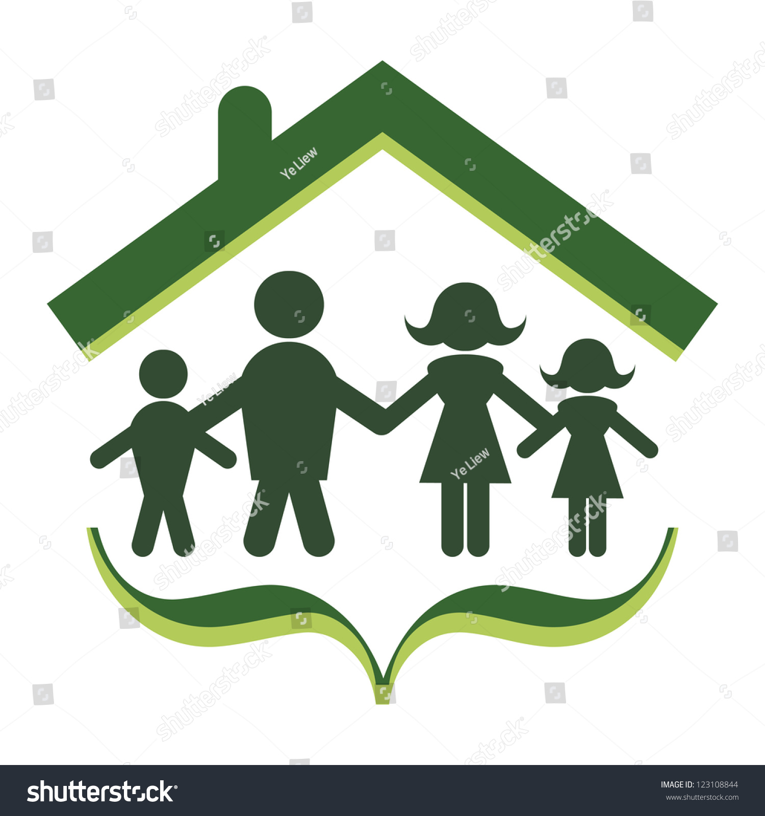 Abstract Concept Family Unity Security Stock Vector Royalty Free