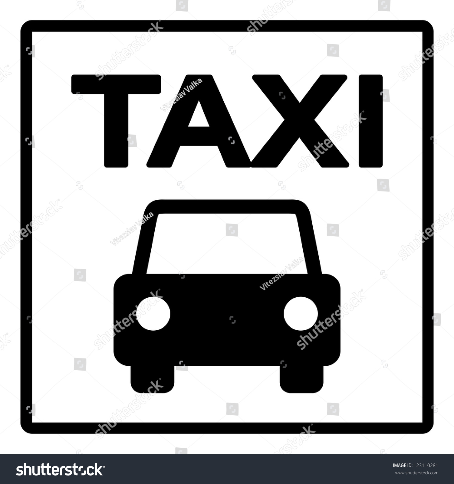 black and white taxi sign black silhouette of taxi cab. Black Bedroom Furniture Sets. Home Design Ideas
