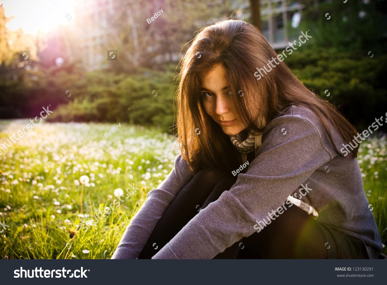 Beautiful teen girl enjoying hairy wife